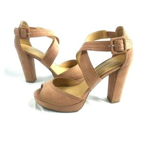 Chinese Laundry Open Toe Platform Chunky Heels
