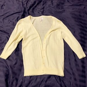 Sweaters - Yellow Mid-Sleeve Soft Cardigan