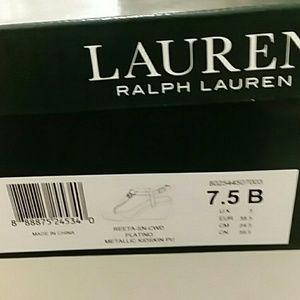 Size 7.5 Ralph Lauren  reeta wedge