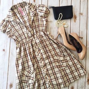 LEI by Taylor Swift plaid print dress