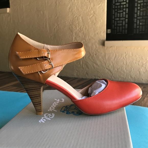 Pin Up Mary Jane Retro Vintage 5s Heels