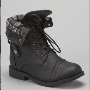 Other - Tall Black military black girl boots