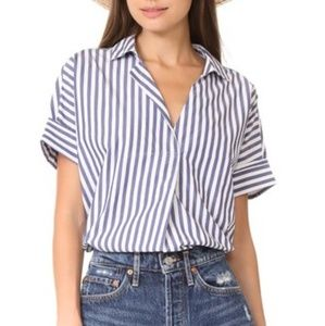 Madewell striped button back courier