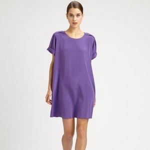PHILIP LIM Silk Tshirt dress purple