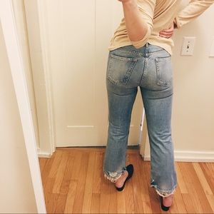 Cheap Manchester Great Sale Linda cropped high-waisted jeans GRLFRND Outlet 2018 Unisex vsTRtmGh