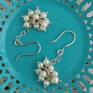 Jewelry - Freshwater Pearl & Sterling Dangle Earrings