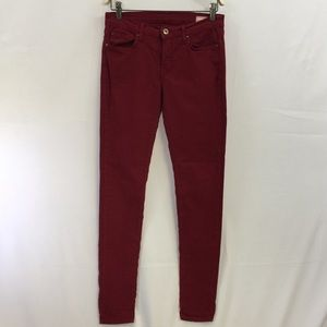 [Angry Rabbit] Size 28 Maroon Stretch Skinny Jeans
