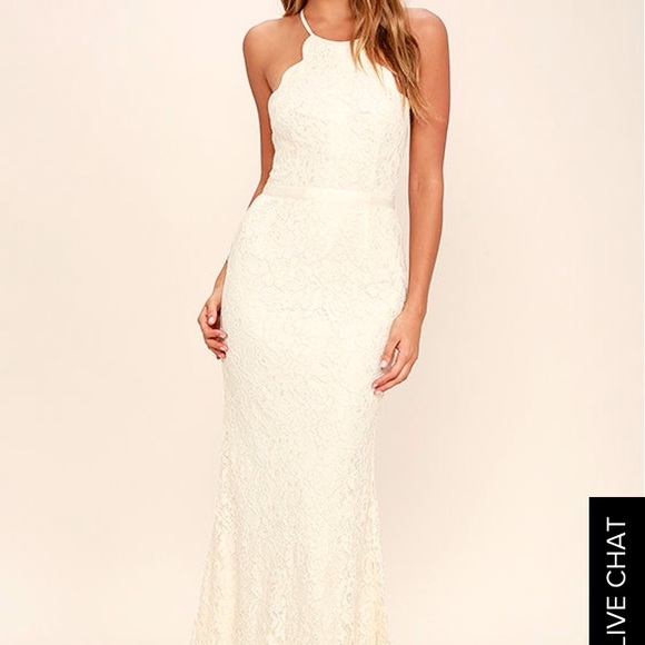 Lulu\'s Dresses | Lulus Zenith Cream Lace Maxi Dress | Poshmark