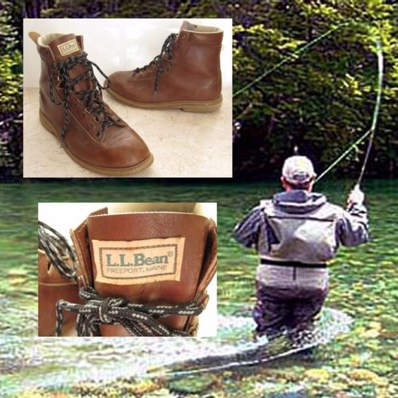 Ll Bean Shoes Fishing Wading Boots Felt Soles Brown Poshmark