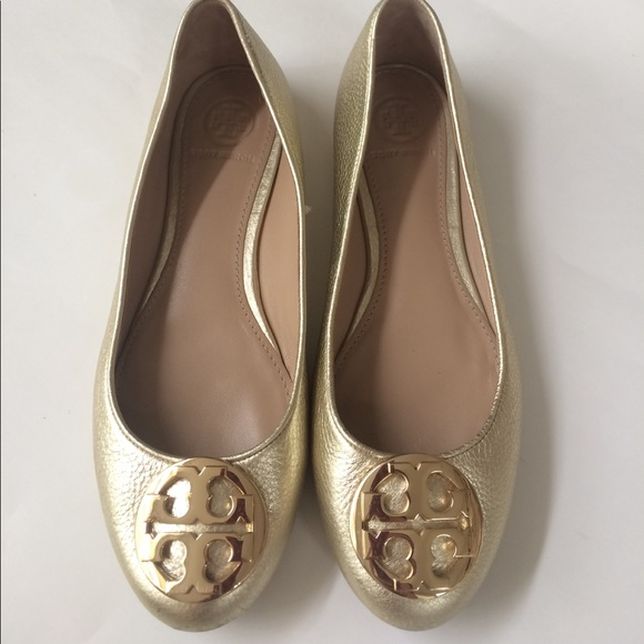 Tory Burch Claire Gold Ballet Flats 6