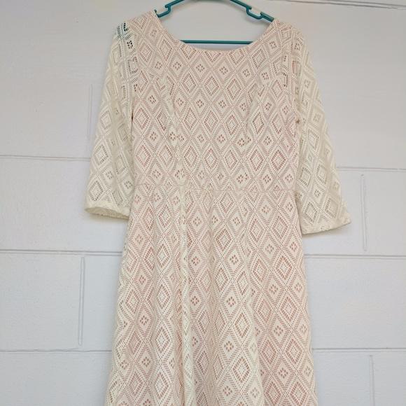 d53fc9dea78118 Lily Rose Dresses | Pretty Lace Dress Brand Size L Pink | Poshmark
