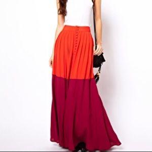 ASOS color block maxi skirt