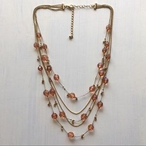 Jewelry - Boho Festival Layered Gold Beaded Chain Necklace
