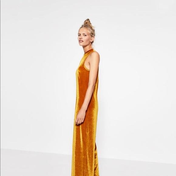 a8b850637503 Mustard Velvet jumpsuit