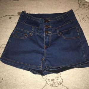 High waisted Jean shorts from papaya