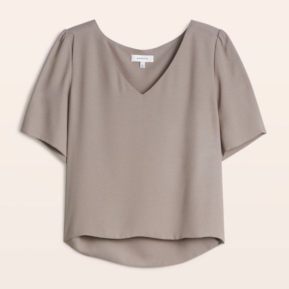 f6fcaeaed2d Aritzia Tops - Babaton Randy Blouse in Taupe