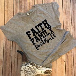 Faith, Family, Football T-shirt ✝️👨👩👧👦🏈