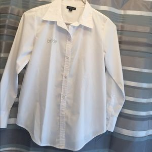 White Button Down Bride Shirt