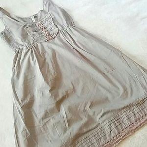 Maeve/Anthro Gray Pocket Dress