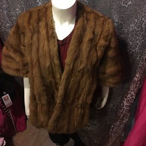 Jackets & Blazers - Faux Fur Long Shawl Wrap Shrug Scarf