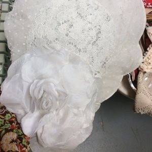 Vintage Accessories - Wedding Hat Caplet Polka Dot Netting