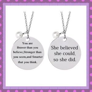 🙌🏼Stainless Steel Inspirational Necklace🙌🏼