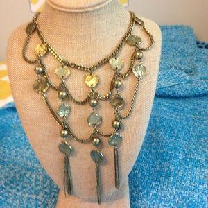 Jewelry - Brass Tassel Statement Necklace