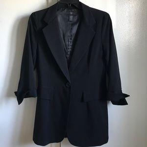 Aqua blazer, single button