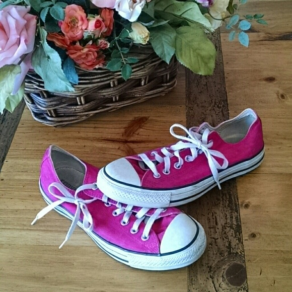 9059b003347 Converse Shoes - Converse custom hot pink All Stars size 9
