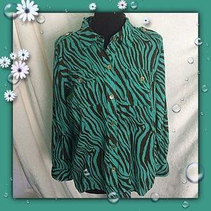 Completely Me Liz Lange / Size 1X / Cotton Shirt