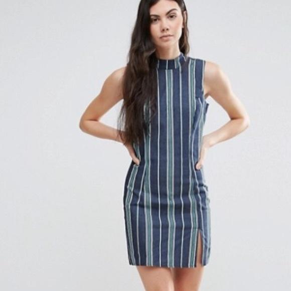 e2f5157282fe Asos Dresses | Madam Rage Stripe Chambray Dress | Poshmark