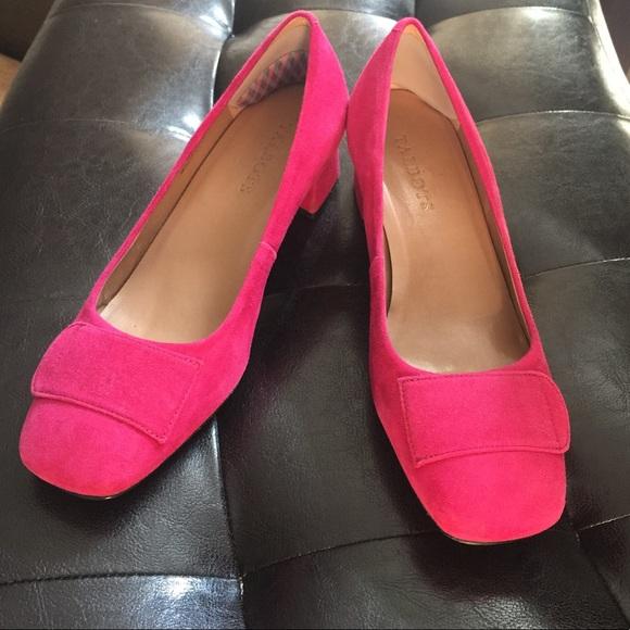 f0384c35f958 Talbots fuchsia pink block heel chunky heel pumps.  M 59cbf521f739bcf703110ce1