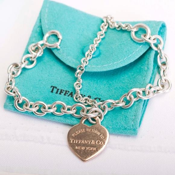 Tiffany Co Jewelry Tiffany Co Double Chain Heart Tag Bracelet Poshmark