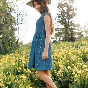 ▫️c l a d + c l o t h▫️All Denim Day Dress