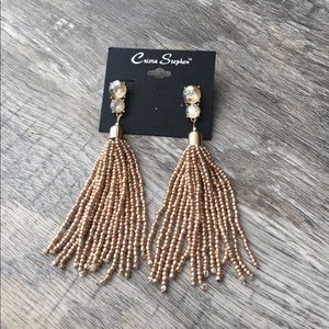 Jewelry - Gorgeous gold rhinestone earrings bling sparkles