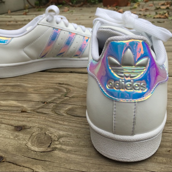 check out d2307 30fc1 adidas Shoes - MIADIDAS Adidas custom holographic Superstar 8.5