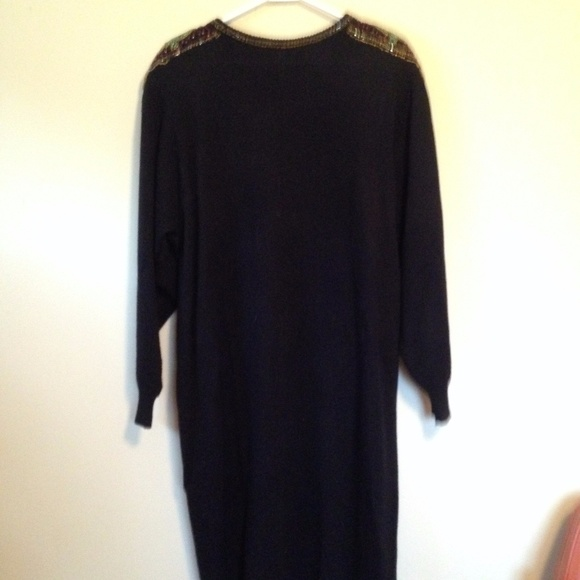 ad002d4f470 Lady Darien Dresses   Skirts - vintage 80s black sweater dress with beaded  accent