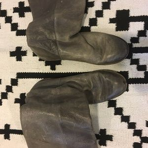 Frye gray tall leather riding boots frye's