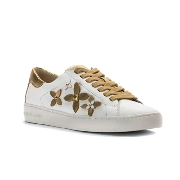Michael Kors Natural Allie Hemp And Leather Sneaker