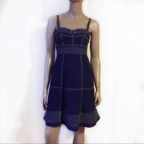 d876bcfdfb0 Anthropologie Dresses   Skirts - MAEVE NAVY BLUE NAUTICAL Theme Dress  ANTHROPOLOGIE