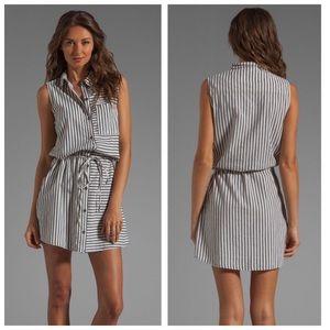 Paige Striped Tie Waist Shirtdress
