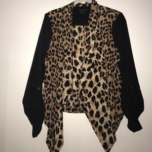 Animal print blazer L