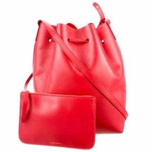 Mansur Gavriel bucket bag - red