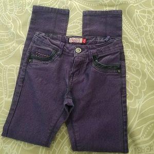 Fabulous purple jeans, girl's size 8