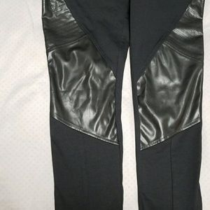 NWOT 14th & Union leather moto leggings