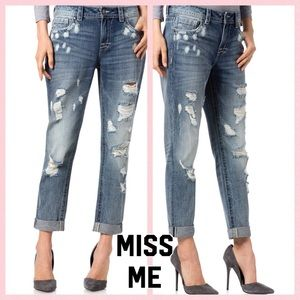 Miss Me High Rise distressed boyfriend ankle jeans