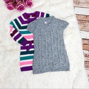Two Little Girl's Sweater Dress Bundle