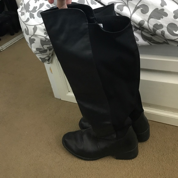 Target Black Wide Calf Boots Size