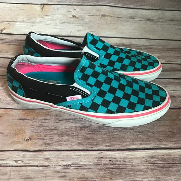 Vans Shoes   Vans Classic Slipons Teal