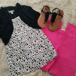 Black and white top, girl's size L